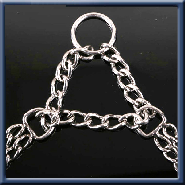 High quality metal chain dog harness