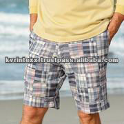 golf patchwork fabric shorts