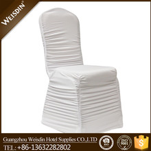 Weisdin cheap ruffled chair cover wedding decorations wholesale
