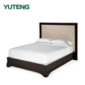 European style solid wood morden platform bed with storage