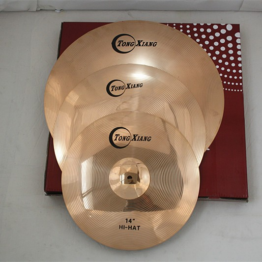 traditional cymbal TW cymbal sets for sale 14hihat 16crash 18crash
