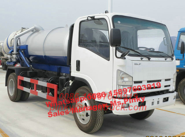 Japanese Jet Vacuum <strong>Trucks</strong>, 6000Liters Sewer Jetting <strong>Trucks</strong>, 6Tons Sewage Suction <strong>Truck</strong> For Sales