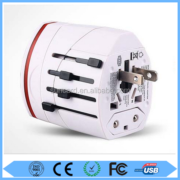 CE, ROHS, FCC Certificate universal travel adapters with usb charger
