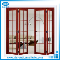 Exterior wooden finished aluminium main door design