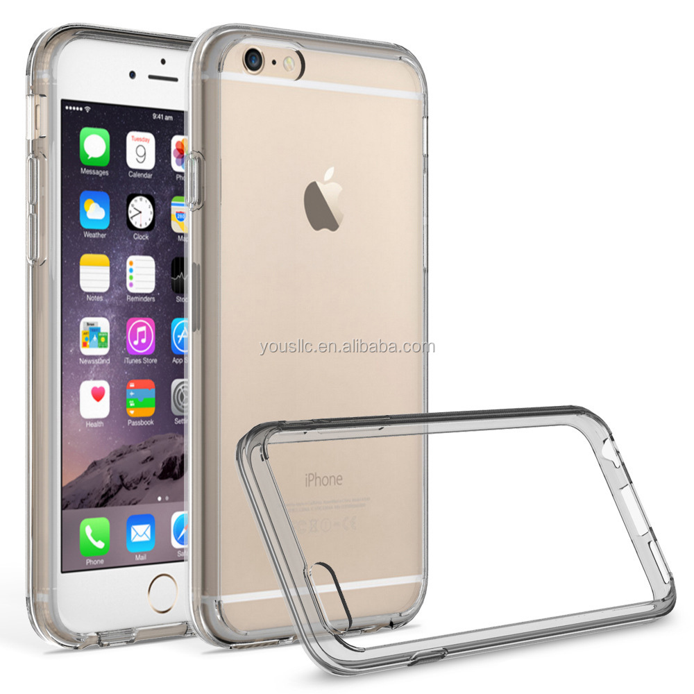 TPU BUMPER CLEAR HARD BACK MOBILE PHONE CASE FOR Iphone 6 6S Plus
