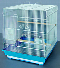 Flat Top Small Parakeet Cage Travel Bird Cage Portable
