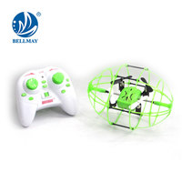 Mini Wall Climbing 2.4 GHz RC Drone Ball Throwing Fly 6 Axis Gyro 360 Degree Flip RC Quadcopter with High-low Speed Control Heli