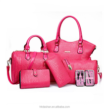 S2123 Hot <strong>fashion</strong> 6 pieces in 1 set bag dubai <strong>fashion</strong> women bag lady wholesale cheap handbags