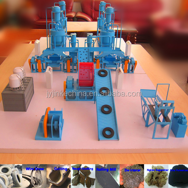 used rubber machinery waste tire recycling plant