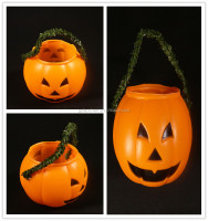 wholesale halloween party pumpkin decoration lighted halloween bucket