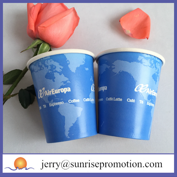 Wholesale 6oz bio paper hot coffee cup disposable