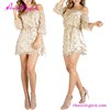 Long Sleeves Off Shoulder Sequins New Ladies Girls Sexy Night Dress
