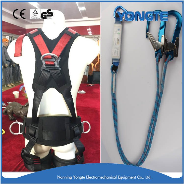 Top Quality Full Body Safety Belts/Electrical Safety Harness With Safety Lanyard & Rope