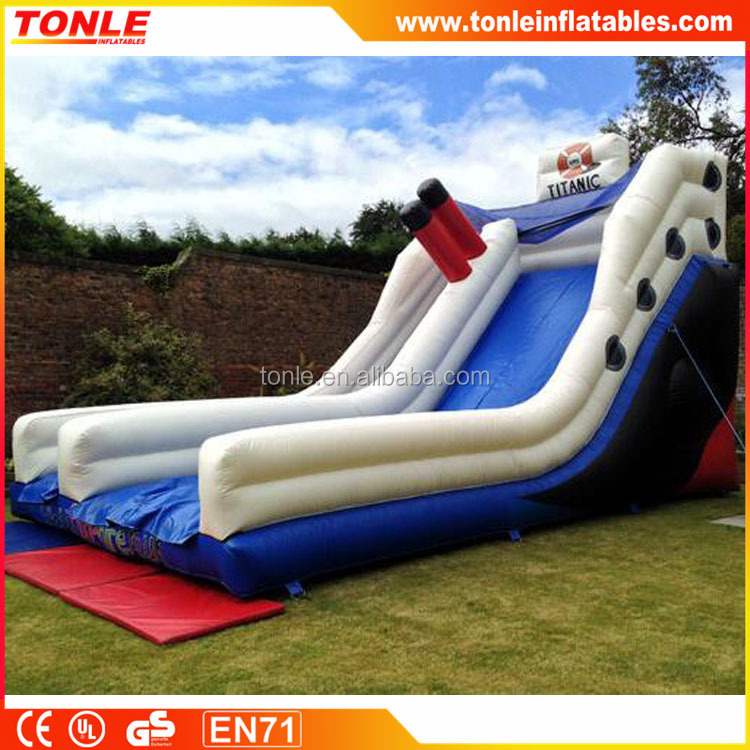 New design Titanic themed inflatable slide for gala days