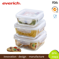 Everich Square Borosilicate microwave food warmer lunch box