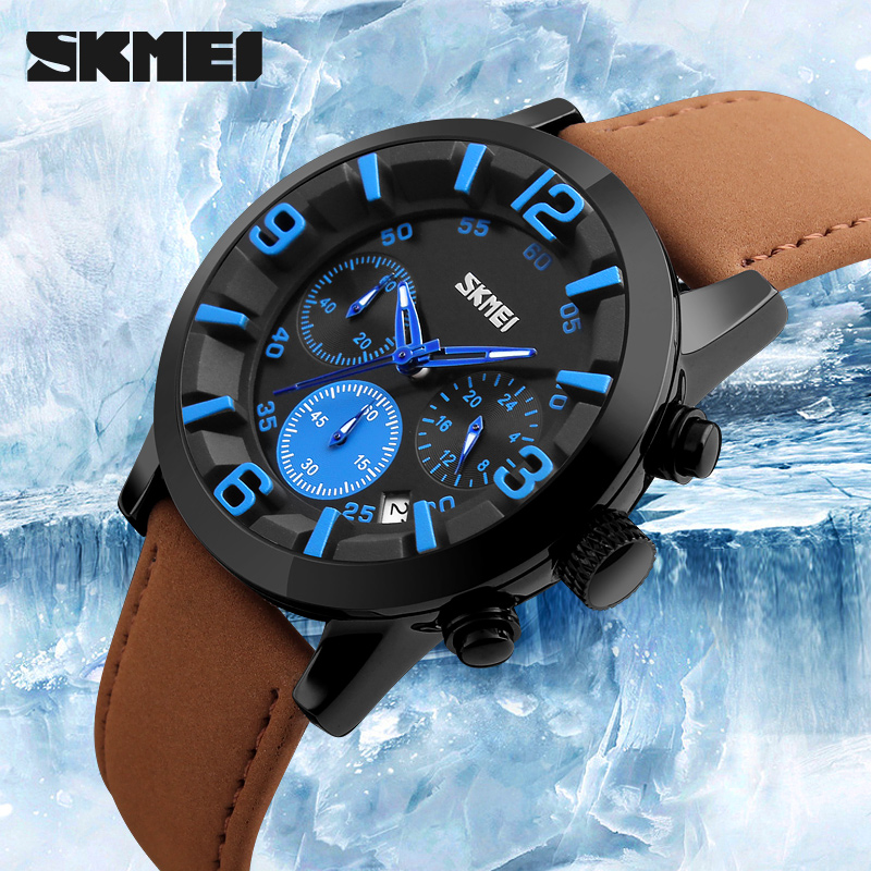 Fitness Watches Hand Watch For Men Diver Watch Top Brand Leather Wrist China
