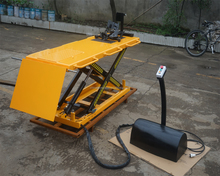 Hot sale mini lifter , electric control ,motorcycle hydraulic scissor lift table