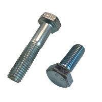 Din933 8.8 grade galvanized heavy hex head bolt and nut