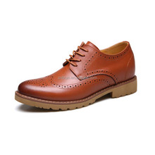 Good quality elevator leather formal dress oxford shoes for men