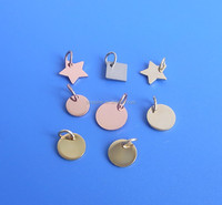 personlised gold/silver/rose gold mini necklace pendant charm