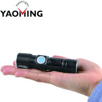 Mini USB Flashlight Rechargeable Internal Battery Q5 High Power Zoomable Led Torch Light With 3 Modes Pocket Flashlight