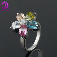 Flower Gothic Size 3 Engagement Rings Cheap