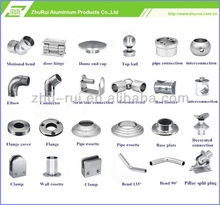 aluminum stainless steel stair handrail pipe end cap/handrail cross bar 16mm pipe end cap/stair handrail accessories