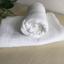 Solid color microfiber white muslin swaddle blanket