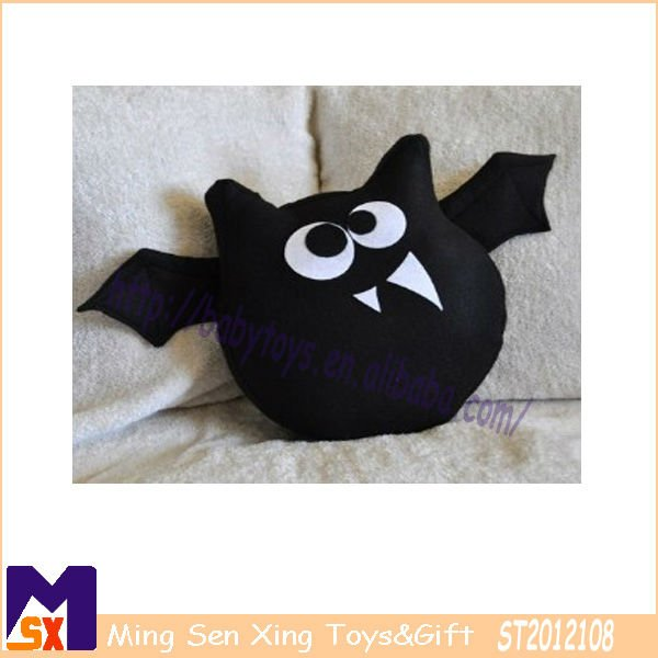 lovely soft home deco bat cushion best halloween gift bat plush toy