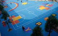 good quality guangzhou manufacturer basketball sports floor for playground in college