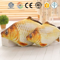 China factory direct sale custom big soft realistic fish toy for wonderful gifts