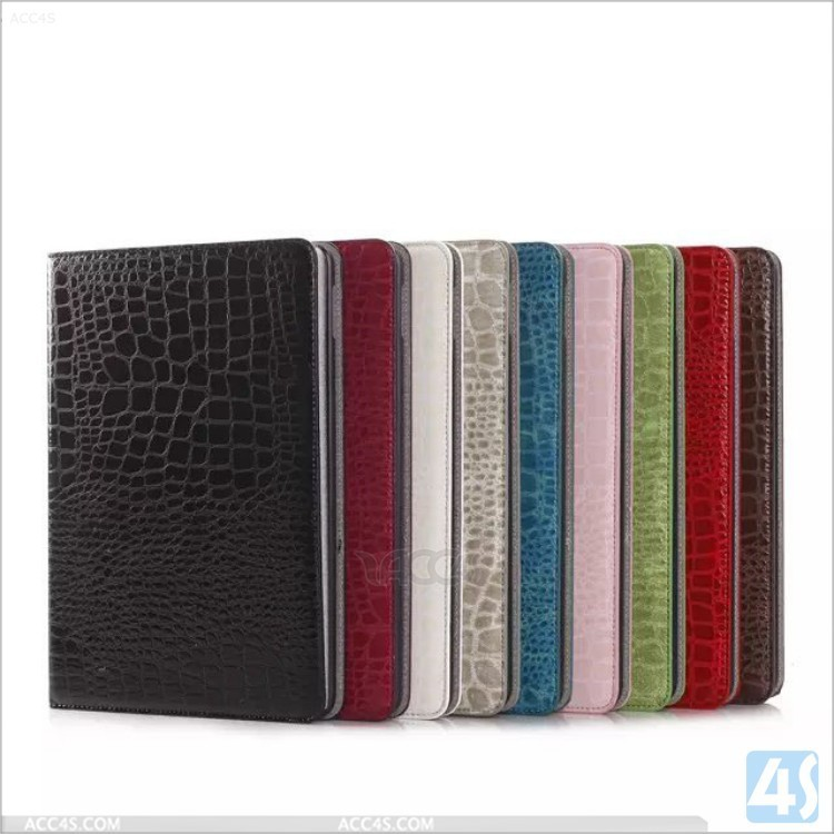 Unique Design With card slots For Ipad Air 2 crocodile Leather Case For Ipad 6 Flip Cover