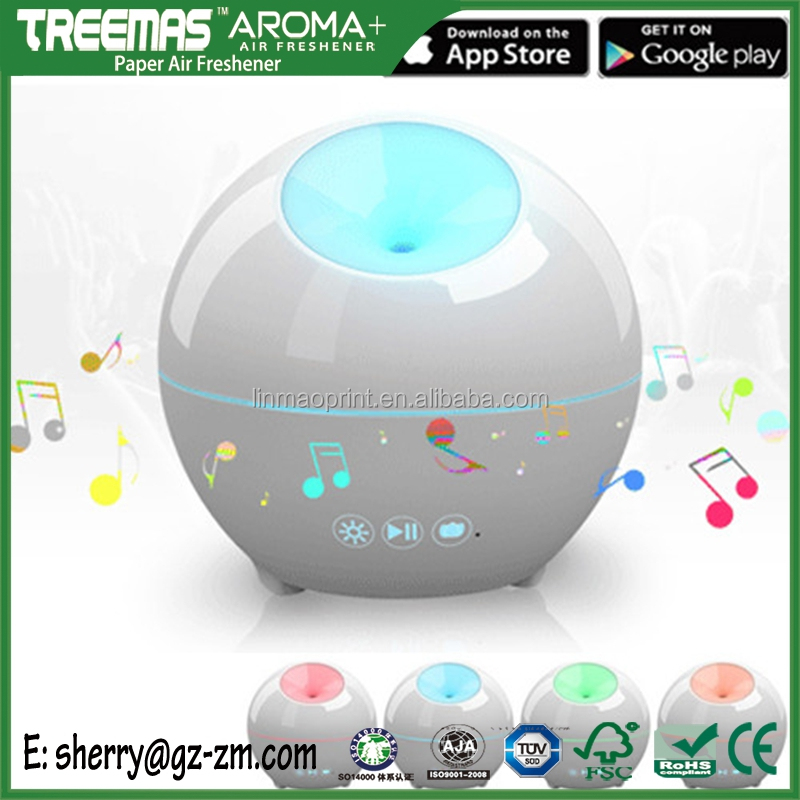 Blueyooth phone control clean air commercial aroma diffuser with timing light and player