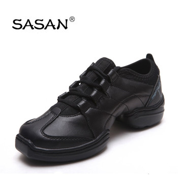 Flexible Split Sole Genuine Leather Line Dance Shoes Woman Dance Shoes Sport Style Elastic Lining 8860