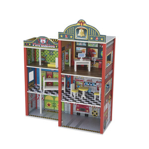 Diy Wooden Toy Kids Dollhouse Doll House Miniature Furniture
