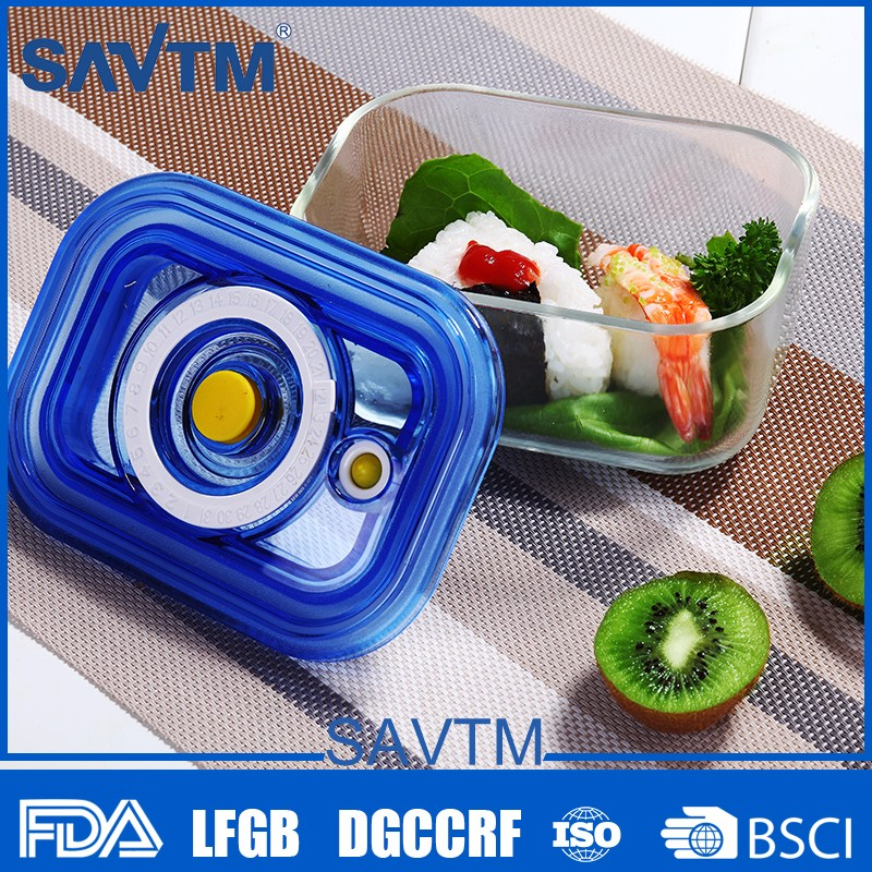 Food Fresh Keeping Easy Operated Fridge Vacuum Box Square Thermo Food Container