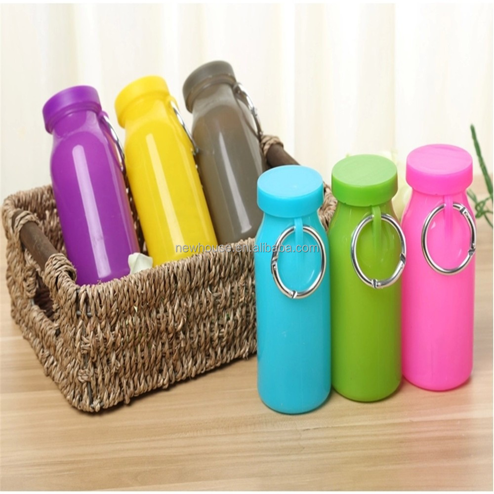 Best Eco Friendly BPA Free 415ml Silicone Collapsible Sport Water Bottle