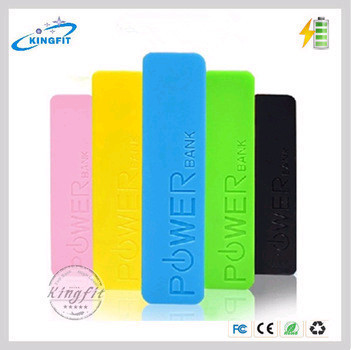New Power Bank Multi Colored Gift Perfume 2600 Mah USB Portable Power Bank , Promotional Gifts
