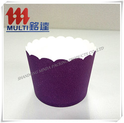 Disposable Colorful Glassin Paper Cake Cup