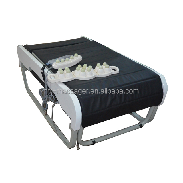 168-1H Happy Dream Korea Thai Buy Chinese Portable Electric Full Body Heating Thermal Folding Ceragem V3 Jade Stone Massage Bed