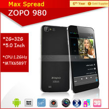 "Instock!! 5.0"" FHD screen Android 4.2 zp 980 mtk6589 quad core 1.5GHz Dual camare Dual sim Smartphone"