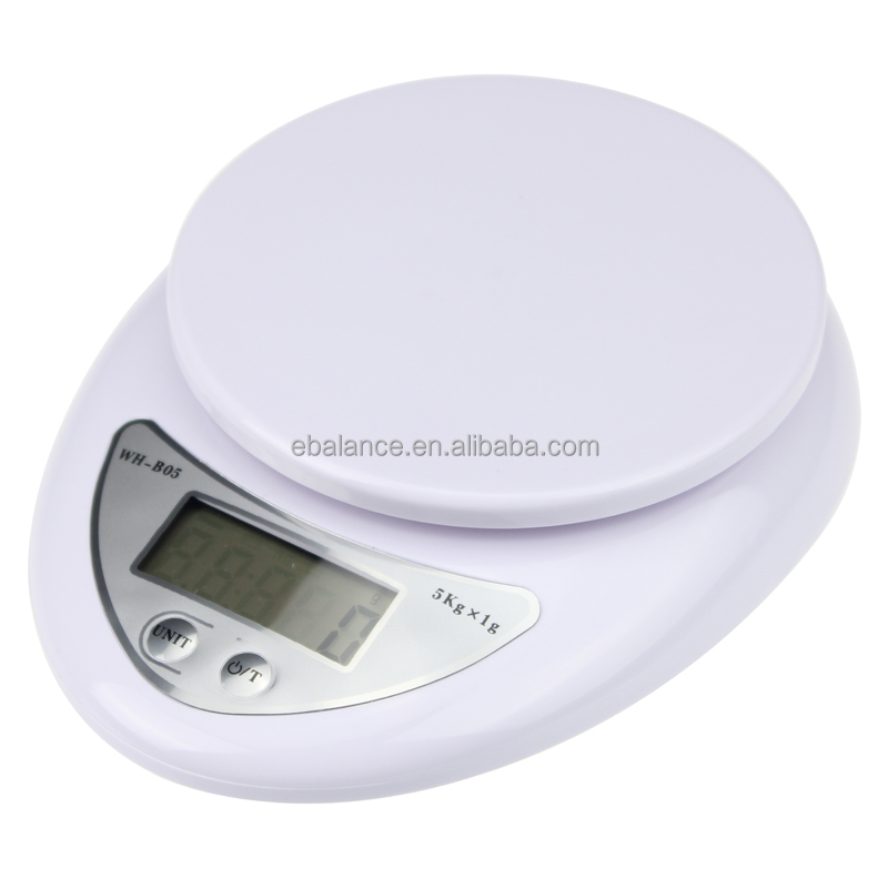 Ebalance Digital Food <strong>Scale</strong> Kitchen <strong>Scale</strong> with LCD Display and Tare Function-white