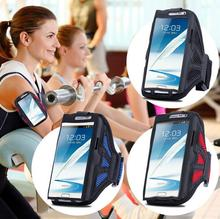 Universal For Samsung Galaxy Note 5 4 3 2 Sports GYM Arm Band Sport Armband jogging Case PU Nylon Cover Grid Phone Bag