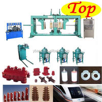 China Factory made silicone upper & lower sf6 insulating shell automatic heating press moulding machine APG1210