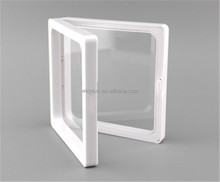 clear plastic photo frame display/ collection box/jewelry box