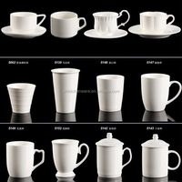 Good quality hotel and buffet magnesium porcelain coffee cup