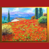 Excellent quality hot-sale oil painting canvas art summer landscape