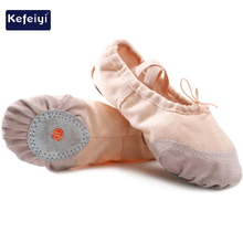 dance training shoes for ballet Leather toe shoes