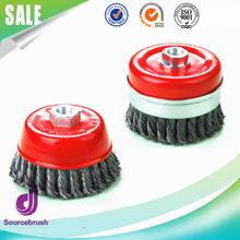 hot sale customized stainless steel wire twist knot wire cup brush for polishing