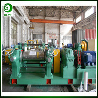 Two roll open mill rubber mixing machine